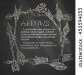 vector chalk ethnic arrows... | Shutterstock .eps vector #453594055