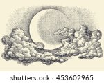 night sky vector  moon in the...