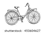 old bicycle sketch illustration | Shutterstock .eps vector #453604627
