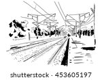 Vector Curved Endless Train...