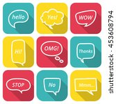 set of speech bubble icons with ... | Shutterstock .eps vector #453608794