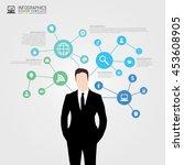businessman in suit.... | Shutterstock .eps vector #453608905