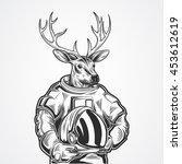 hand draw deer  | Shutterstock .eps vector #453612619