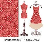 vector fashion illustration ... | Shutterstock .eps vector #453622969