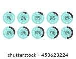 pie charts 5   10   15   20  ... | Shutterstock .eps vector #453623224