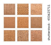 A Nine Square Collage Of Sisal...