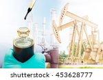 crude sampling for laboratory... | Shutterstock . vector #453628777