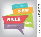 web sale banner | Shutterstock .eps vector #453629521