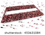 large and diverse group of... | Shutterstock . vector #453631084