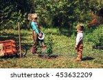 the little girls gardener... | Shutterstock . vector #453632209