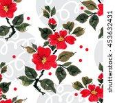 seamless floral pattern... | Shutterstock . vector #453632431