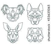australian animal icons  vector ... | Shutterstock .eps vector #453635065