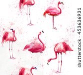 seamless watercolor pattern... | Shutterstock . vector #453636931