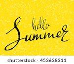 phrase hello summer. vector  | Shutterstock .eps vector #453638311