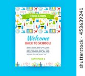 welcome back to school poster... | Shutterstock .eps vector #453639241