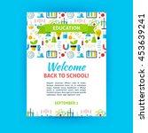 welcome back to school poster... | Shutterstock .eps vector #453639241