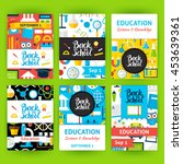 back to school label greeting... | Shutterstock .eps vector #453639361