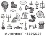 vintage objects set | Shutterstock . vector #453642139