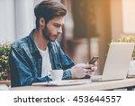 technologies making life easier.... | Shutterstock . vector #453644557