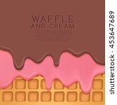 flavored cream melted on wafer  ... | Shutterstock .eps vector #453647689
