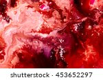 Red Paint Background. Abstract...
