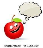 cartoon apple with speech bubble | Shutterstock .eps vector #453656659
