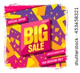 big sale banner template design | Shutterstock .eps vector #453658321