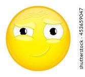 hah emoji. good emotion. smirk...   Shutterstock .eps vector #453659047