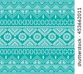 magenta native american ethnic... | Shutterstock .eps vector #453662011