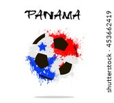 abstract soccer ball painted in ...   Shutterstock .eps vector #453662419