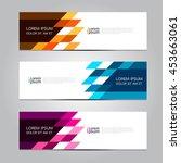 vector design banner... | Shutterstock .eps vector #453663061