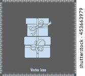 vector illustration of gift box | Shutterstock .eps vector #453663979