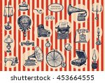 vintage objects set | Shutterstock . vector #453664555