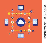cloud computing concept | Shutterstock .eps vector #453670855