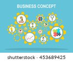 business. abstract background... | Shutterstock .eps vector #453689425
