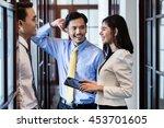 indonesian co workers  men and... | Shutterstock . vector #453701605