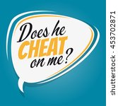 does he cheat on me cartoon... | Shutterstock .eps vector #453702871