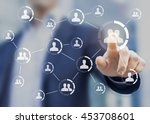 connections between people... | Shutterstock . vector #453708601