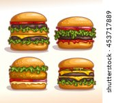vector logo set isolated...   Shutterstock .eps vector #453717889