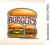 vector logo double burgers  cut ... | Shutterstock .eps vector #453717904