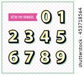 vector alphabet numbers in...   Shutterstock .eps vector #453718564
