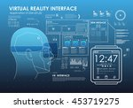 virtual reality glasses with... | Shutterstock .eps vector #453719275