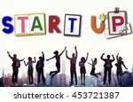 start up business growth launch ... | Shutterstock . vector #453721387