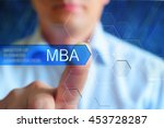 mba title frame. businessman... | Shutterstock . vector #453728287