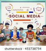 social media online network... | Shutterstock . vector #453738754