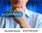 e learning title  concept... | Shutterstock . vector #453740104