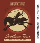 american texas cowboy rodeo... | Shutterstock .eps vector #453740785