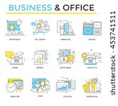business and office concept... | Shutterstock .eps vector #453741511