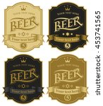 set of vector labels for beer... | Shutterstock .eps vector #453741565