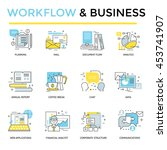 work flow and business concept... | Shutterstock .eps vector #453741907